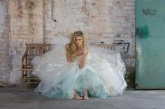 Just another day sitting in a deserted warehouse in my beautiful gown.....
