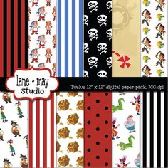 jake and the neverland pirates themed digital by lane + may, $7.50