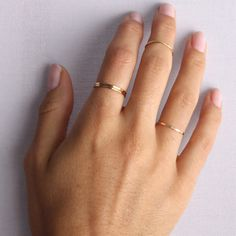Classic Hammered Ring, Yellow Gold - Catbird