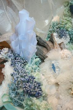 the post: Designer Spotlight: Visual Artist, Kathryn Godwin Under The Sea Theme, Under The Sea Party, Ocean Themes, Mermaid Birthday, Paper Art, Wax Paper, The Little Mermaid, Paper Flowers, Designer