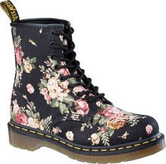 Dr. Martens 194011021 14-Eyelet Steel Toe Boot - Black Fine Haircell - FREE Shipping  Returns | Shoebuy.com