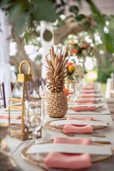 Gold Pineapple Wedding by Pure Luxe Bride
