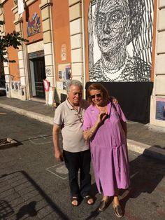 San Lorenzo, 19 luglio 2014. Giorgio Bisegna e Tina Costa