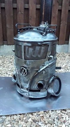 Mini VW outdoor log burner from creation fabrication check out there Facebook page