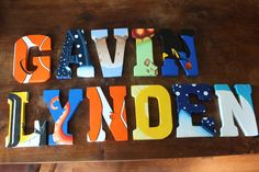 Hand painted extremely detailed Nemo, Dory and Friends 7 3/4 WOOD letters *Price per letter *other characters and other size available by MadeWithCareStudio on Etsy