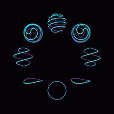 Foto Optical Illusion Gif, Optical Illusions, Gif Animé, Light Painting, Circle Design, Motion Design, Logo Design Inspiration, Motion Graphics, Oeuvre D'art