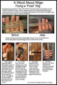 Disclaimer: I am not a professional wig stylist. This is just a trick that I found works for me on some of my wigs that I've accidenta...