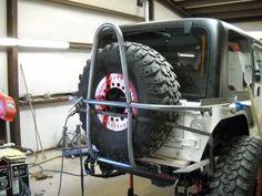 swing down tire mount