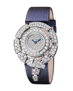 Bvlgari 102538 Sarpenti Incantati - швейцарские женские часы - наручные, золотые с бриллиантами, белые