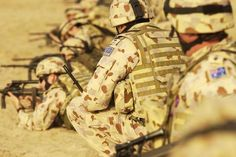 Soldiers from the Australian Army Training Team