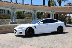 White Tesla Model S with Larte Design Elizabeta Kit Looks Bad-Boy - Photo Galler. Tesla Model S White, My Dream Car, Dream Cars, High Design, Tesla S, Fancy Cars, Top Cars, Car Shop, Future Car