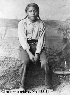 Horse Child, a son of Cree chief Big Bear in 1885.  Photo courtesy of the Glenbow Archives.