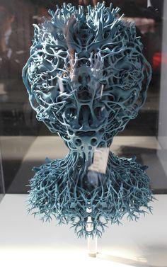 3D printed art piece at the 3D Printshow 2015 in Berlin
