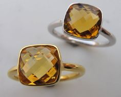 Citrine Ring November Birthstone by Belesas Love the gold! I've yet to find a birthstone ring that I like but I like the simplicity