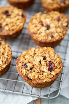 Cranberry Orange Baked Oatmeal Cups are a make-ahead breakfast ideal for busy mornings, Sunday brunch, or holiday breakfast. Make when you have time, freeze, and reheat this single-serve breakfast when you're ready to serve.