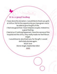 Egg donor angel message