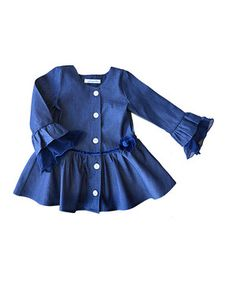 Another great find on #zulily! Navy Denim Petti Jacket - Toddler by Hang Ten Gold #zulilyfinds