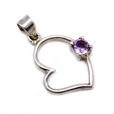 Silvestoo India Amethyst Gemstone 925 Sterling Silver Pendant PG-100746   https://www.amazon.co.uk/dp/B06XWYXRV9