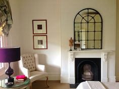 Canvas of Mirrors over Fireplace Decoration Ideas