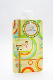 Do your kids love squeezable pouches? They can get quite expensive but now you can save a TON of money with these! Squishy Snak Paks! Re-Usable, BPA-FREE Snack container pouch you can fill with your favorite puree and squish it out the top!