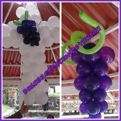 Decoración con globos para primera comunión.