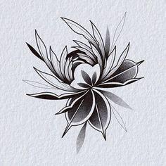 Flash Art Tattoos, Time Tattoos, Body Art Tattoos, Tattoo Design Drawings, Mandala Tattoo Design, Flower Tattoo Designs, Flower Art Drawing, Floral Drawing, Little Flower Tattoos