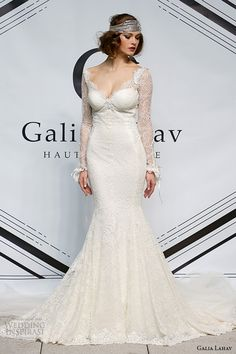 http://www.weddinginspirasi.com/2014/10/21/galia-lahav-fall-winter-2015-wedding-dresses/ galia lahav fall 2015 #bridal bustier long sleeves sheath fit flare low cut back #wedding dress #weddingdress #weddings