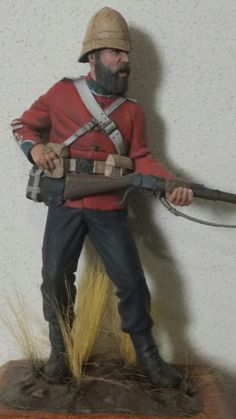 British 24th Foot Zulu War 1879. Verlinden 120mm figure.