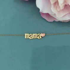 Mama Necklace Mama Bear Necklace Gold Necklace by AvaHopeDesigns