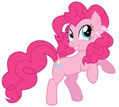 pinkie pie with pigtails