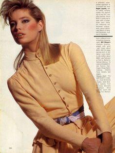 US Vogue February 1982 Singular Distinctive Tops Photo Irving Penn Models Kelly Emberg, Anne Bezamat, Kelly LeBrock