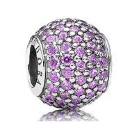 PURPLE PAVE LIGHTS CZ CHARM