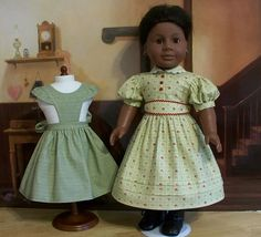Civil War Gown and Pinafore Apron made for Addy by Keepersdollyduds, via Flickr