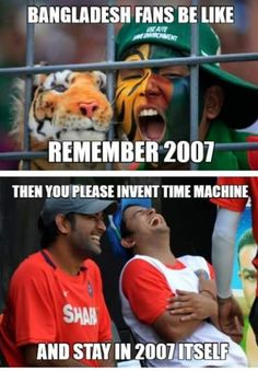 Dear #BAN Fans,  Forget The Past, Start Living In Present. See You In Quarter Finals. ;) #IndVsBAN #CWC15