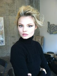 Magdalena Frackowiak, such a beauty. Love everything about this. The hair, make up...perfection.