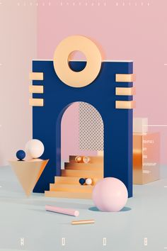 bsndsn everyday wasted #008 - meow #bsndsn #everyday #photoshop #illustrator #geometry #cinema4d #octane #render #sphere #gold #dots #pattern #space Display Design, 3d Design, Graphic Design, Memphis Design, 3d Artwork, 3d Max, Photoshop Illustrator, Adobe Photoshop, Portfolio