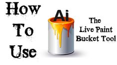 Adobe Illustrator Tutorial - How To Use The Live Paint Bucket Tool