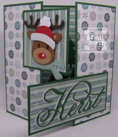 Pocket Letters, Marianne Design, Winter Cards, Diy Cards, Reindeer, Christmas Cards, Greeting Cards, Holiday Decor, Wallpaper