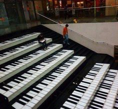 Piano stairs, going here some day