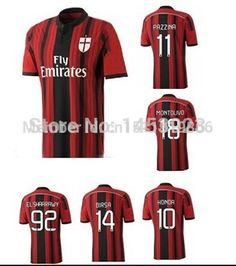 23bc770de Find More Sports Jerseys Information about 2014 15 promotion AC Milan home  polyester customize soccer jersey HONDA Thailand quality men short football  ...