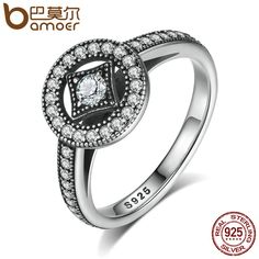 Womens Sterling Silver Rings 925 Sterling Silver Vintage Allure with Clear CZ //Price: $23.95 & FREE Shipping //     #925silverjewelry