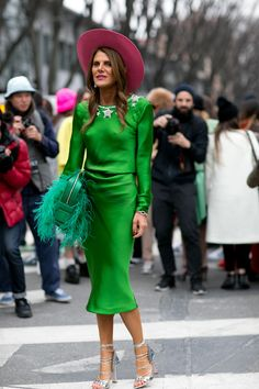 go big or go home. AdR doing the former (bless her cotton socks) in Milan. #AnnaDelloRusso