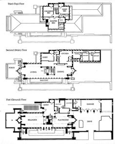 Robie House Dwg  a jpg   ×     Frank Lloyd Wright    frank lloyd wright house plans   Pesquisa Google