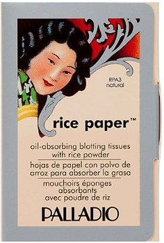 I love this rice paper with powder combo - Palladio Oil Absorbing Rice Paper Tissues with Rice Powder Natural