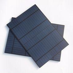 BUHESHUI High Quality 10W 18V Polycrystalline PET Solar Panel Easy DIY Solar Charger For 12V Battery Charging