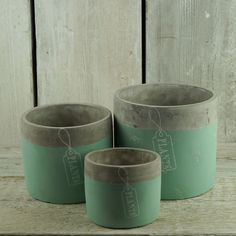 Lovely turquoise stone pots.  http://www.thesatchvillegiftcompany.co.uk/products/new-for-spring-2016