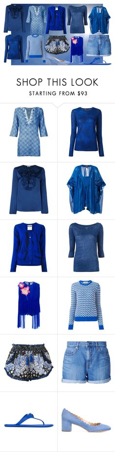 """blue fashion"" by monica022 ❤ liked on Polyvore featuring SUB, Proenza Schouler, P.A.R.O.S.H., Roberto Cavalli, Moschino, Majestic Filatures, Delpozo, Golden Goose, Poupette St Barth and Nobody Denim"