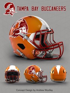 NFL: Tampa Bay Buccaneers concept Revo speed helmet template available @ http://etsy.me/1M43o5w                                                                                                                                                      Más