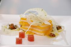 Butternut Squash and Pecan Terrine with Okanagan Quince #culinarycapers #food #catering http://www.culinarycapers.com/ Photo: Chef Margaret Chisholm