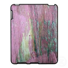 'THE OLD RED WALL' iPAD CASE, by The Flying Pig Gallery on Zazzle (lizadeyphoto) - A close-up detail of an old red wooden wall with peeling paint.